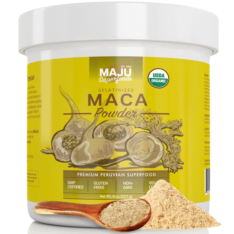 Maca Powder Organic, Premium Gelatinized Root to Remove Starch, Purest & Best Powdered Peruvian Maca Roots, Use Macaroot in Smoothies, Supplements Libido & Fertility in Men & Women, Gluten Free, Peru