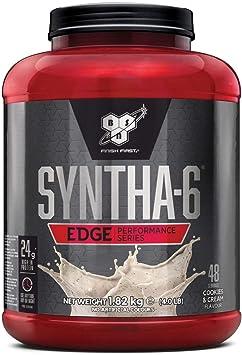 BSN Nutrition Syntha 6 Edge Whey Protein Isolate, Proteinas para Masa Muscular, Suplementos Deportivos en Polvo con Proteinas Whey, Galletas y Crema, ...