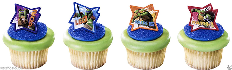 Amazon.com: Teenage Mutant Ninja Turtles Cupcake Rings 24pcs ...