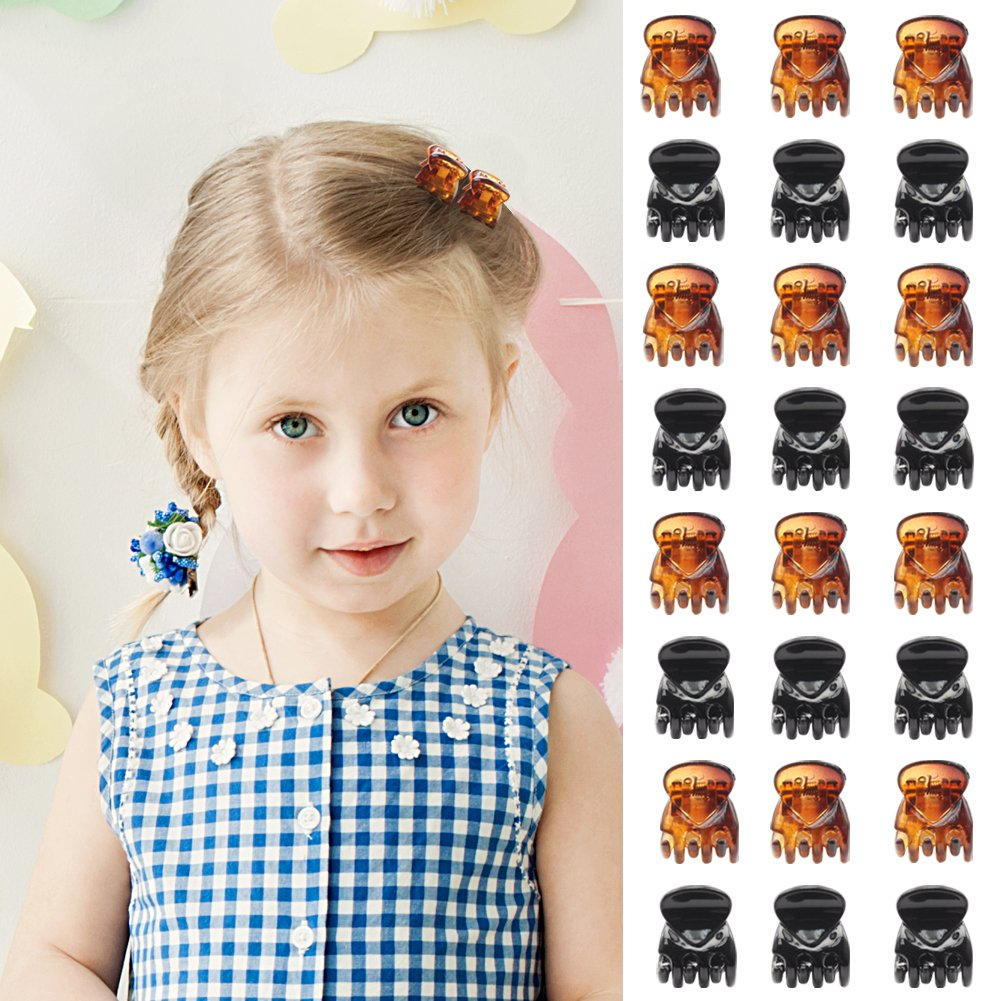 Beinou Hair Clips Mini Hair Claws Clip Hair Pins Clamps for Girls and Women (24 Pieces, Black and Brown) Nancyus005