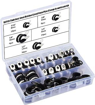 Band 15mm /Ø 20mm Rohrschellen mit Gummieinlage Auswahl 25 St/ück