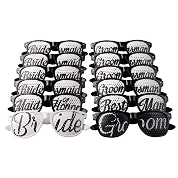 Amazon.com: aytai 12 piezas favores de la boda anteojos de ...