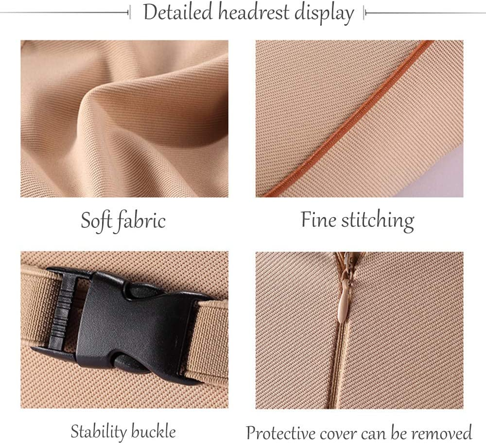 suitable for car installation and office seat installation Hanger Car headrest two-piece lumbar support pad memory foam material can relieve neck and back pain when driving