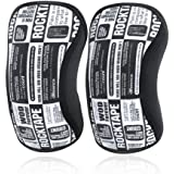 RockTape Knee Sleeves, 2-Pack, Competition Grade, 5mm or 7mm Thickness, Compression Neoprene, Extra Long for VMO Support, Assassins