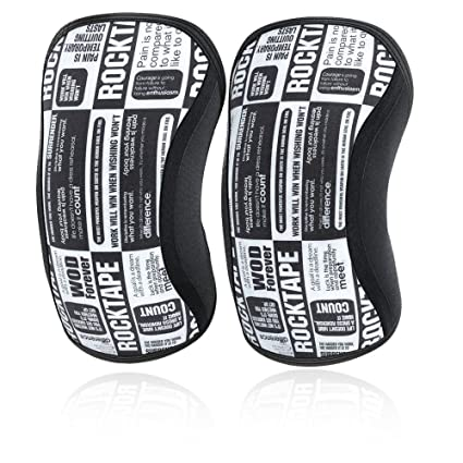 6a69ad6e92 RockTape Assassins Knee Sleeves - Choice of 5mm or 7mm Thickness - Support  and Compression for Weightlifting Training Racing Running Cycling  Powerlifting ...