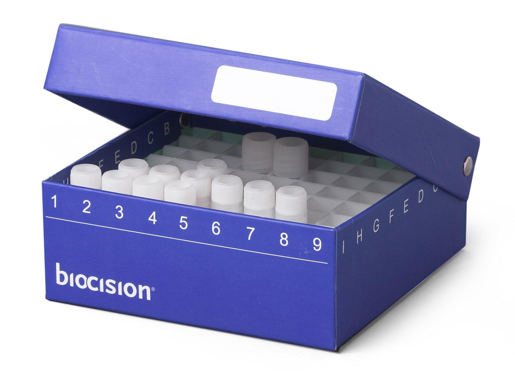 Biocision BCS-206B Blue TruCool Hinged Cryobox (Pack of 5)