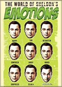 "Ata-Boy The Big Bang Theory World of Sheldon's Emotions 2.5"" x 3.5"" Magnet for Refrigerators and Lockers"