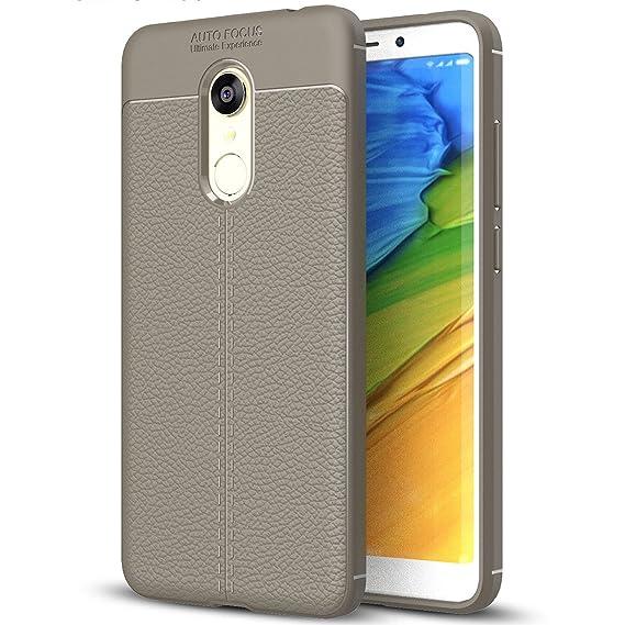 cheap for discount e2b66 6391b Xiaomi Redmi 5 Plus Case, Redmi 5 Plus Faux Leather Case, Soft Case  Anti-Slip TPU Cover for 5.99'' Xiaomi Redmi 5 Plus
