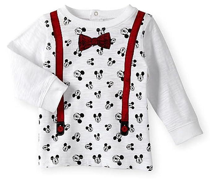 fa86ddfbc Amazon.com: Disney Mickey Mouse Heart Baby Boys Long Sleeve Shirt (3 ...