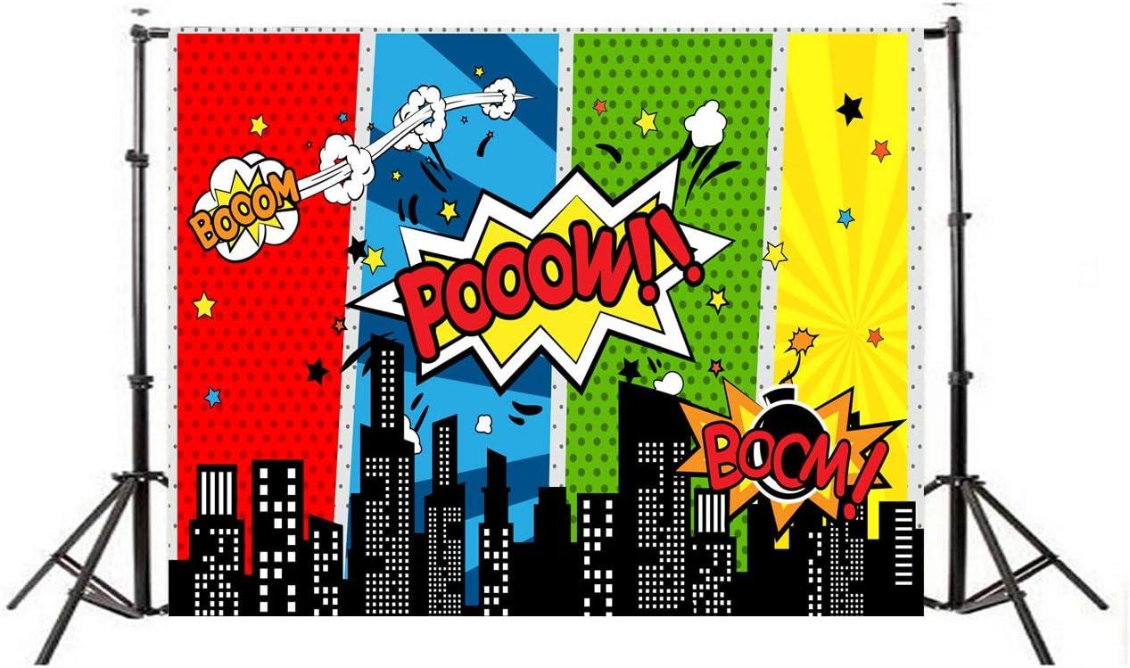 Longsing Superheld Hintergrund Stadtbild Hintergrund Geburtstagsparty Und Eventdekorationen Studio Requisiten 150 200cm Sport Freizeit