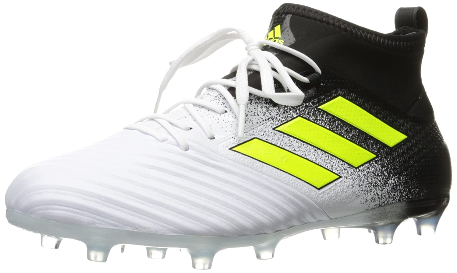 Adidas Originals Men's Ace 17.2 Firm Ground Cleats Soccer Schuhe, Weiß Solar Yellow schwarz, (9 M US)