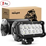 Nilight - 60002F-B Led Light Bar 2PCS 36w 6.5Inch Flood Led Off Road Lights Super Bright Driving Fog Light Boat Lights…