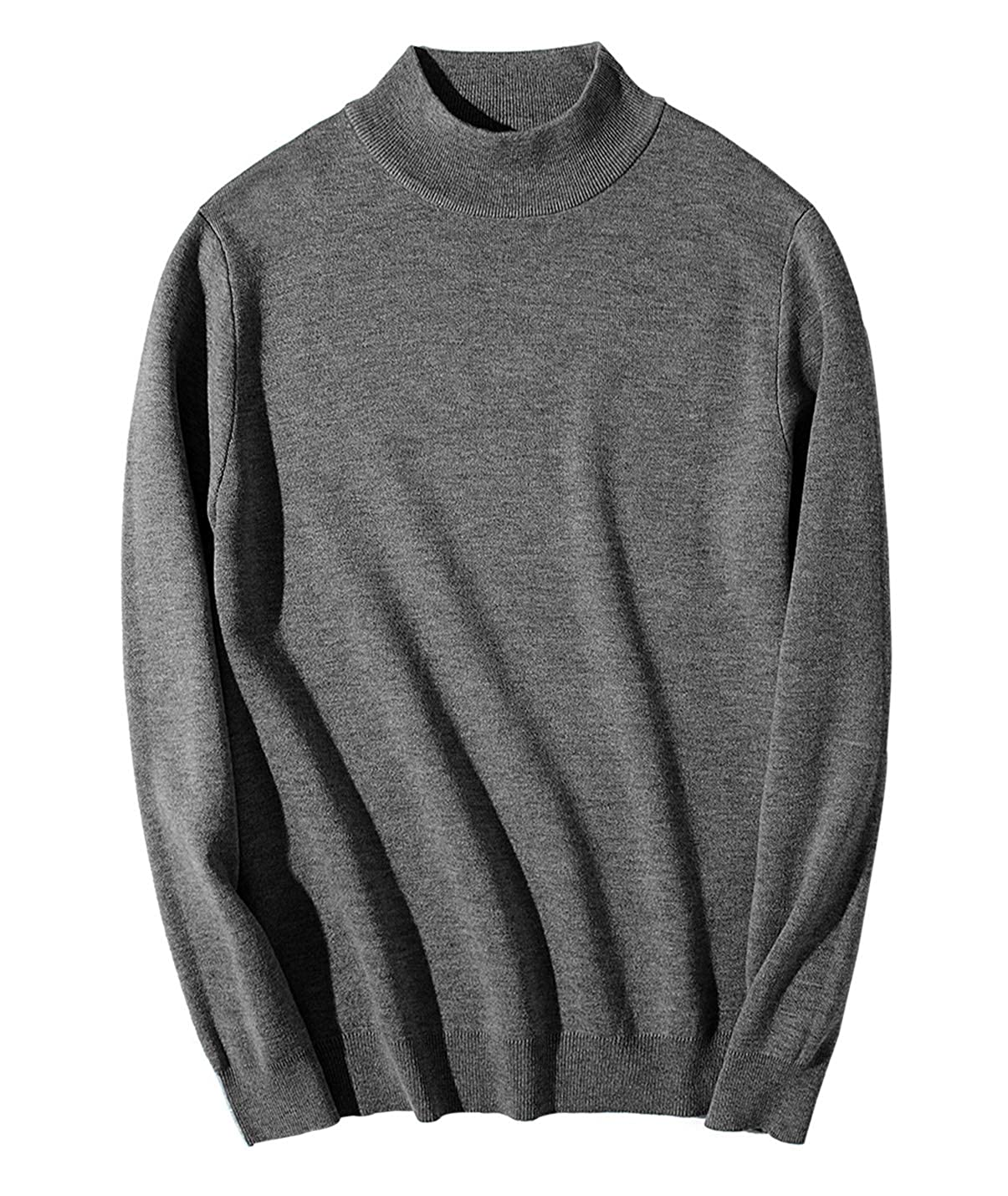 Yimoon Mens Slim Fit Turtleneck Sweater Casual Knitted Pullover Sweaters