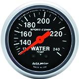 Auto Meter 3333 Sport-Comp Mechanical Water Temperature Gauge