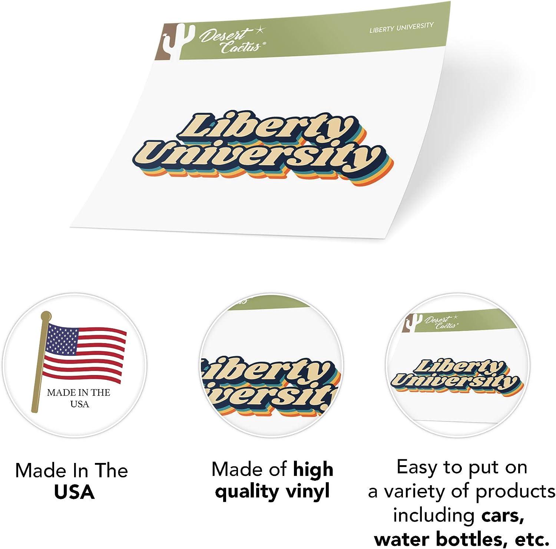 70s Name Sticker Liberty University Flames NCAA Vinyl Decal Laptop Water Bottle Car Scrapbook