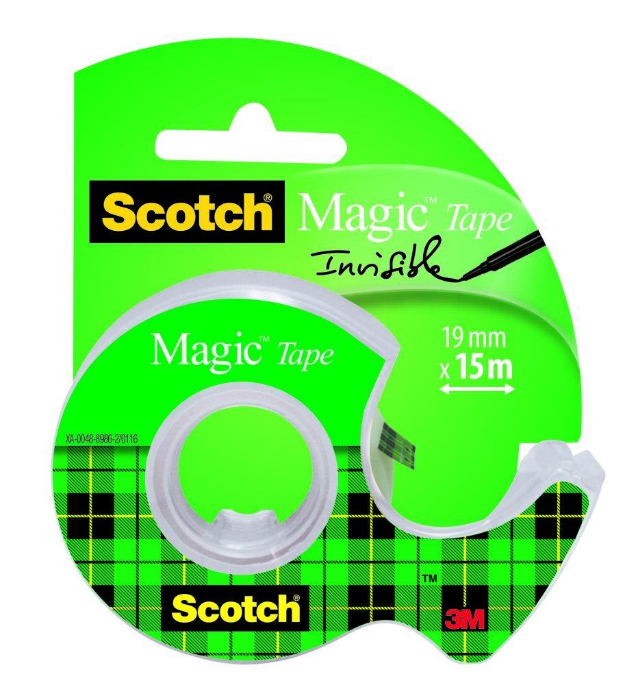 Scotch 3M Magic Type, Nastro Adesivo, Trasparente Inscrivibile, 1 Pezzo, Finitura Opaca, Invisibile su Carta 3M Italia Srl 8-1925D