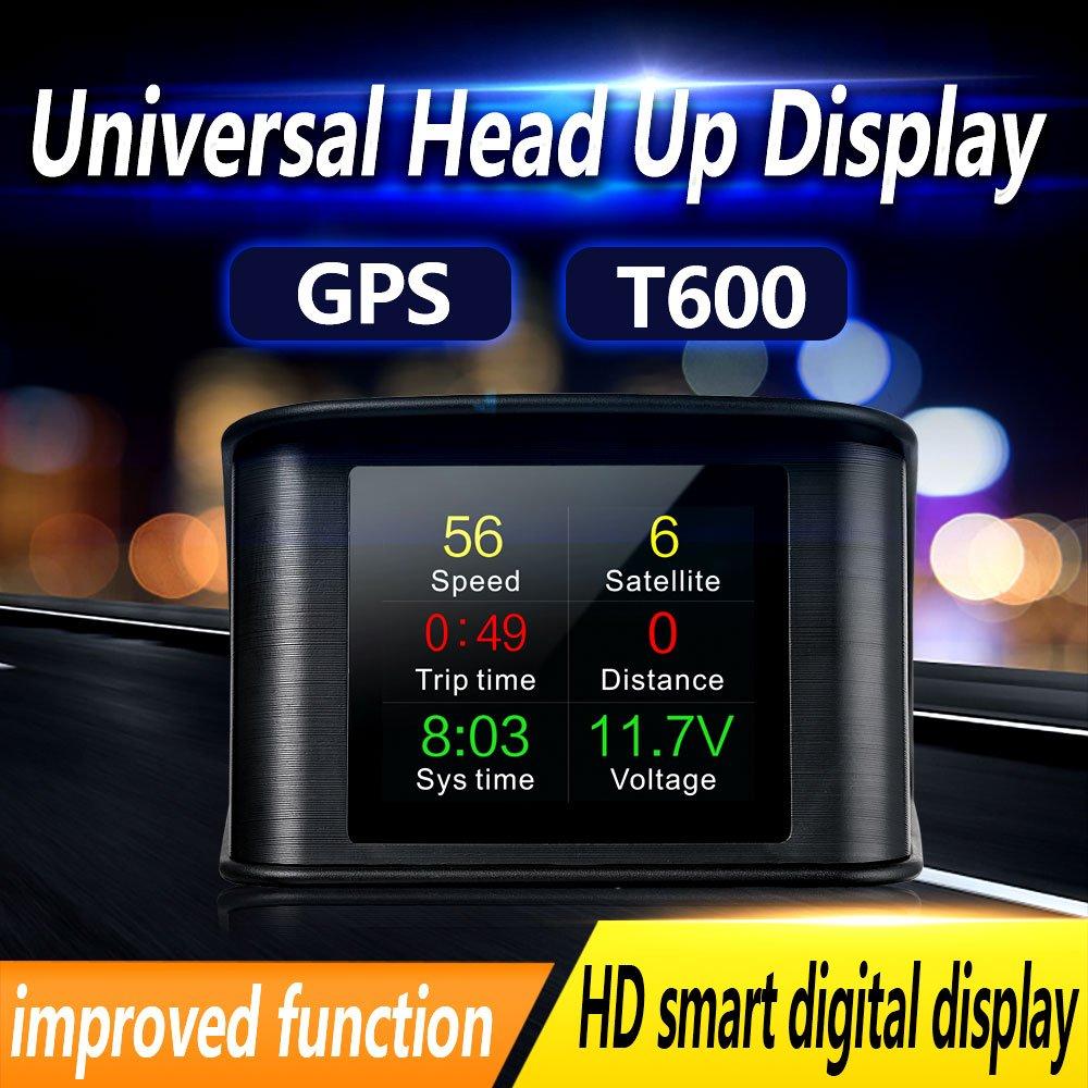 Vjoycar T600 Lcd Tft Gps Speedometer Digital Speed Radar Display Better Car Projector Head Up Hud Sports Outdoors