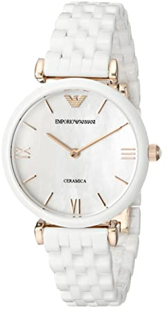 Image Unavailable. Image not available for. Color  Emporio Armani Women s  AR1486 Dress White Ceramic Watch 2df089bcba