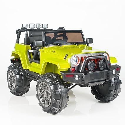 Amazon Com 12v Mp3 Kids Ride On Jeep Car R C Remote Control Lights