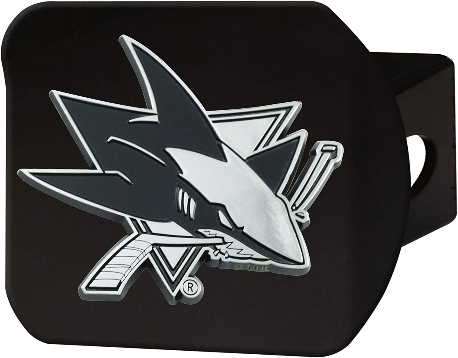 Blackhitch Cover Team Colors Black FANMATS NHL San Jose Sharks Hitch Cover One Sized