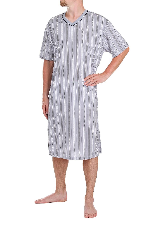 Classic Mr Nightgown,Short Sleeve,100% Cotton, L XL XXL XXXL