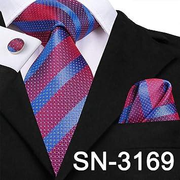 XZ Moda Corbata Corbata Seda Púrpura Paisley Floral Corbatas para ...
