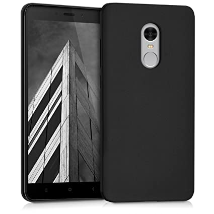 new style 61d9f 75ef3 kwmobile TPU Silicone Case for Xiaomi Redmi Note 4 / Note 4X - Soft  Flexible Shock Absorbent Protective Phone Cover - Black Matte