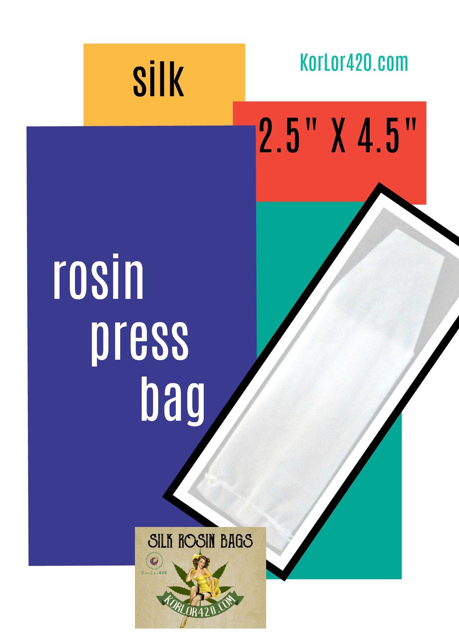 Rosin Press Bags 120 Micron 2.5 x 4.5 100% Silk & Organic 50 Bags