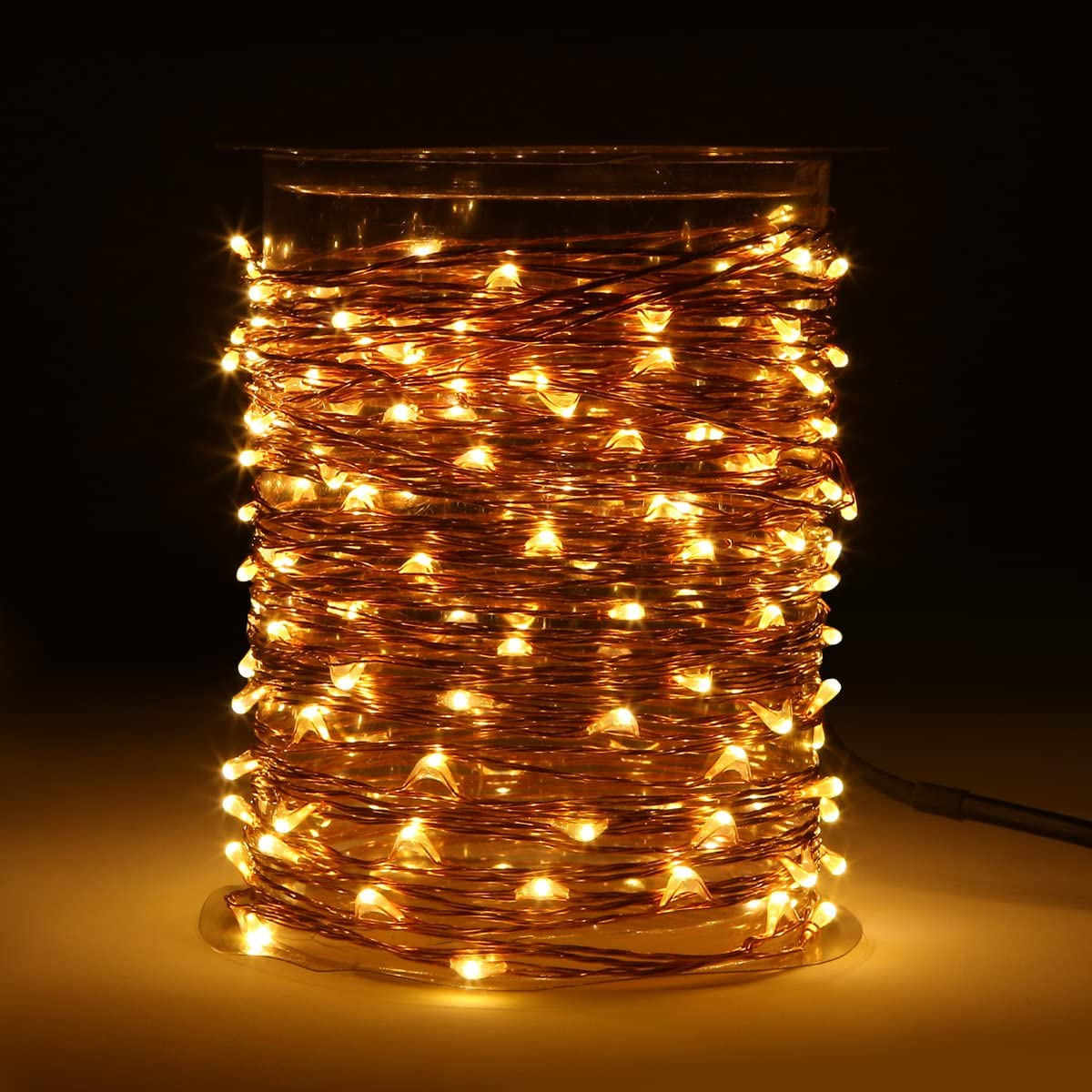 Topfashion 150 Leds 50ft Led Starry Firefly String Light Copper Wire Decorative Fairy Lights Warm White 15m Power Adapter Included Amazon Co Uk Kitchen Home