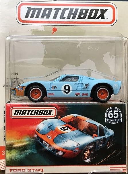 Amazon Com Matchbox Globe Travelers Blue Ford Gt40 65th Anniversary Toys Games