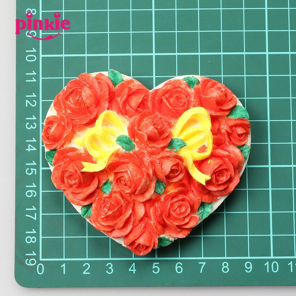 Pinkie Tm The heart-shaped rose resin box jewelry box jewelry box salt Fimo clay carving handicraft silicone mold