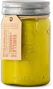 Paddywax Candles RJ803Z Relish Collection Scented Candle, 9.5-Ounce, Vanilla + Oakmoss