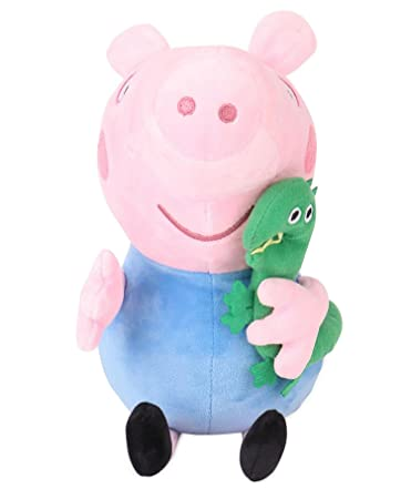 Peppa George Pig with Dinosaur Plush, Multi Color (30cm) Plush Animals & Figures at amazon