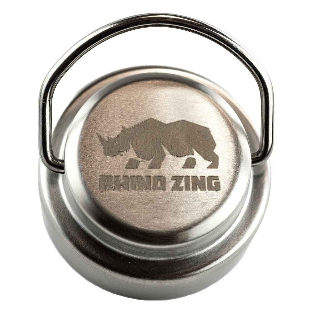 Rhino Zing 18-Ounce Beer Growler Stainless Steel Water Bottle with Stainless Steel Lid. Insulated, Wide Mouth by Rhino Zing (Image #7)