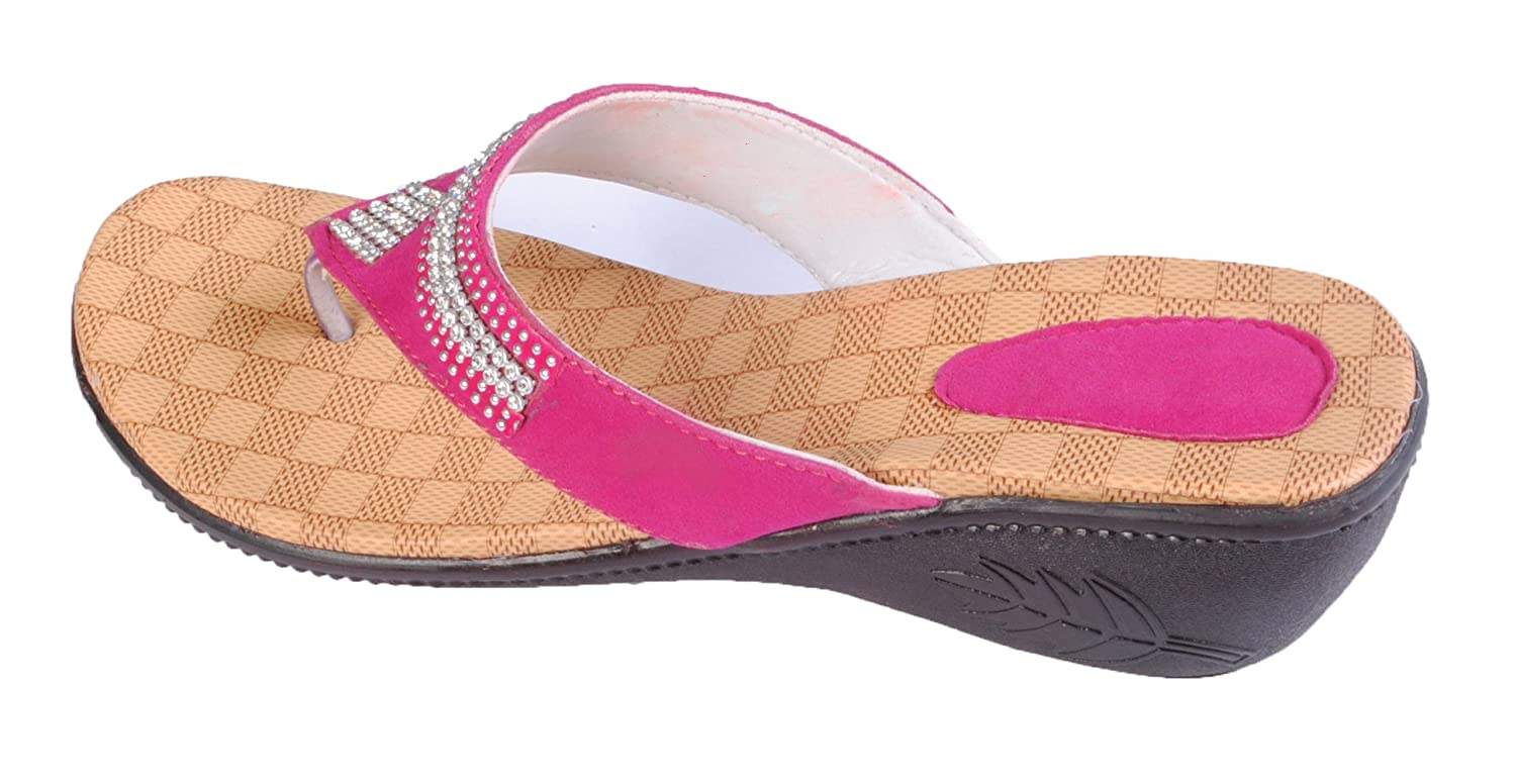 ff33cb199774fb Rnjc Women s Pink Fashion Sandal -7  Buy Online at Low Prices in India -  Amazon.in