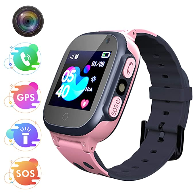 Bohongde Kids Smart Watch Phone with SOS , Camera, 1.44 HD Screen ,Games for 3-12 Year Old Boys Girls Great Gift