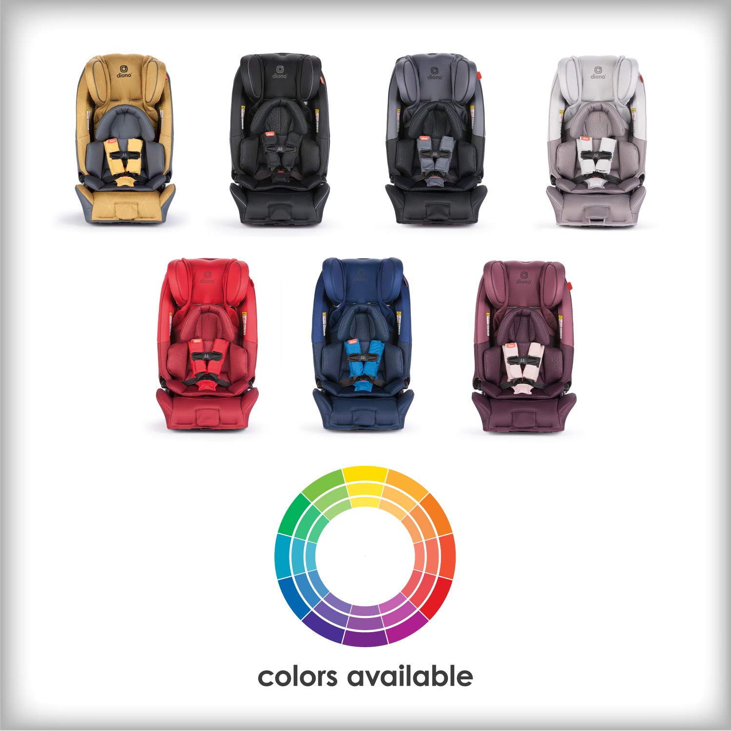 Diono Radian 3RXT All-in-One Convertible Car Seat - Extended Rear-Facing 5-45 Pounds, Forward-Facing to 65 Pounds, Booster to 120 Pounds - The Original 3 Across, Black by Diono (Image #8)