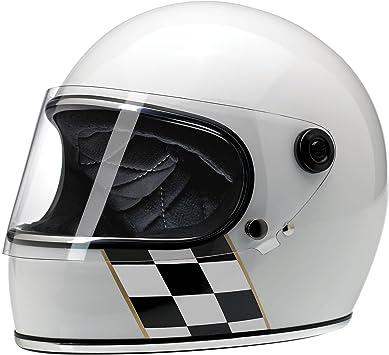 Bourbon Metallic XS Biltwell Inc GRINGO Retro Full-Face Motorcycle Helmet