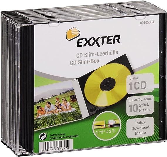 Cajas de embalaje DVD Hama Slim x10: Amazon.es: Electrónica