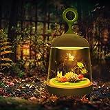 Glow Terrarium, Terrarium Kit for Kids with Multi-Color LED Night Light on Lid, Smart Touch DIY Plant Landscape for Children, Creativity for Kids, Gift for Kids