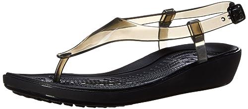 19644f348736 Crocs Womens Women s 14975 RLY Sexi T Strap Gladiator Sandal