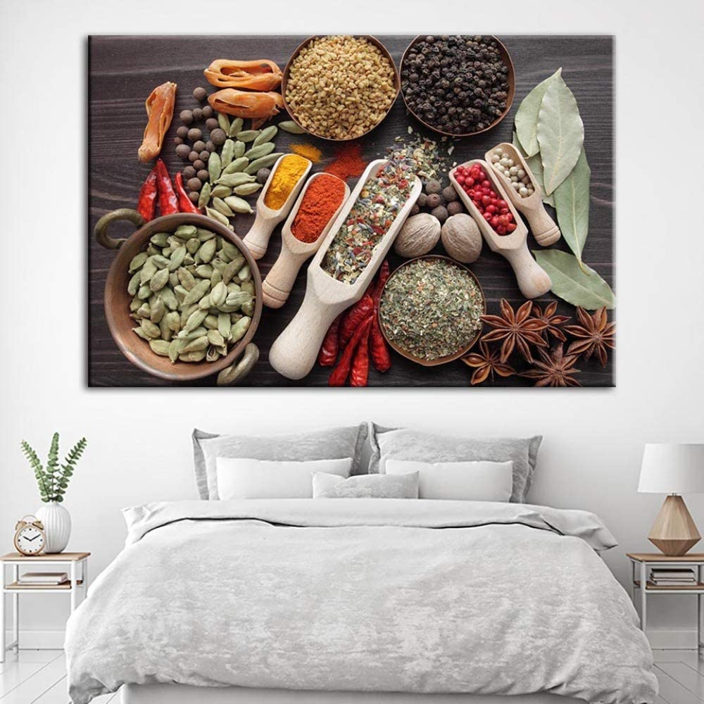 NIMCG Decoración del hogar Lienzo HD Impreso Aromatizante Pintura Moda Cartel Pared Arte Comida Imagen Fondo de Cocina 30x40CM (Sin Marco): Amazon.es: Hogar