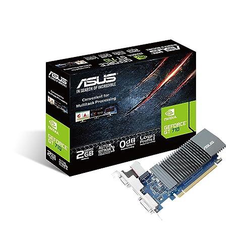 ASUS GT710-SL-2GD5 GeForce GT 710 2 GB 902/5010 MHz GDDR5 PCI Express 2.0 Silent Graphics Card - Black