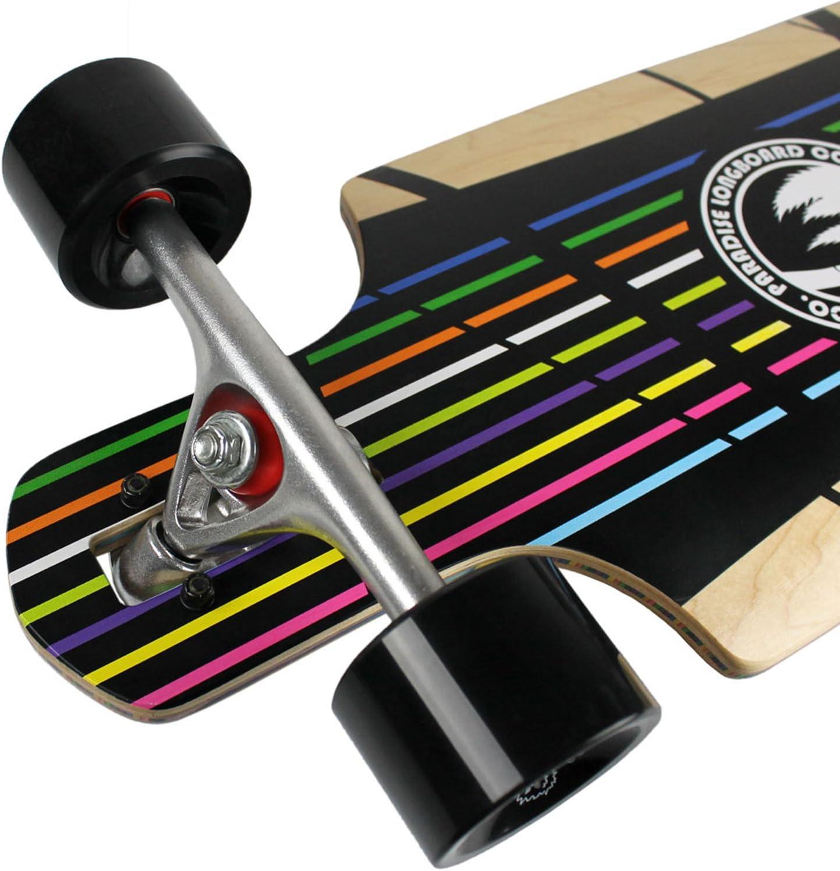 Paradise Longboard with Paris Trucks Vertical Color Core Drop Thru Prism 10x40