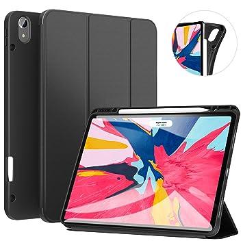 Ztotop Funda para iPad Pro 12.9 Pulgadas 2018, Ultra Delgada Smart Cover Carcasa con Soporte Incorporado de Pencil- Ligero, Función de ...