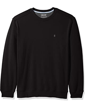 2150f9ebf13f IZOD Men s Advantage Performance Long Sleeve Solid Fleece Soft Crewneck  Pullover