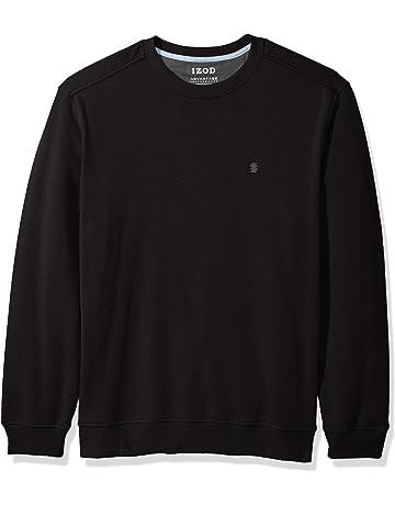 ff143fbfb69e8e IZOD Men s Advantage Performance Long Sleeve Solid Fleece Soft Crewneck  Pullover