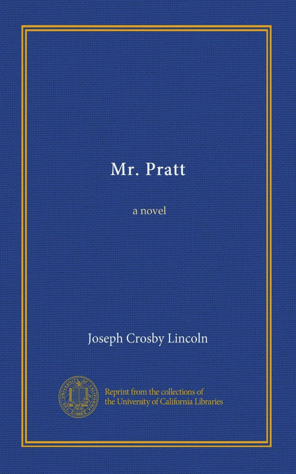 Download Mr. Pratt: a novel PDF