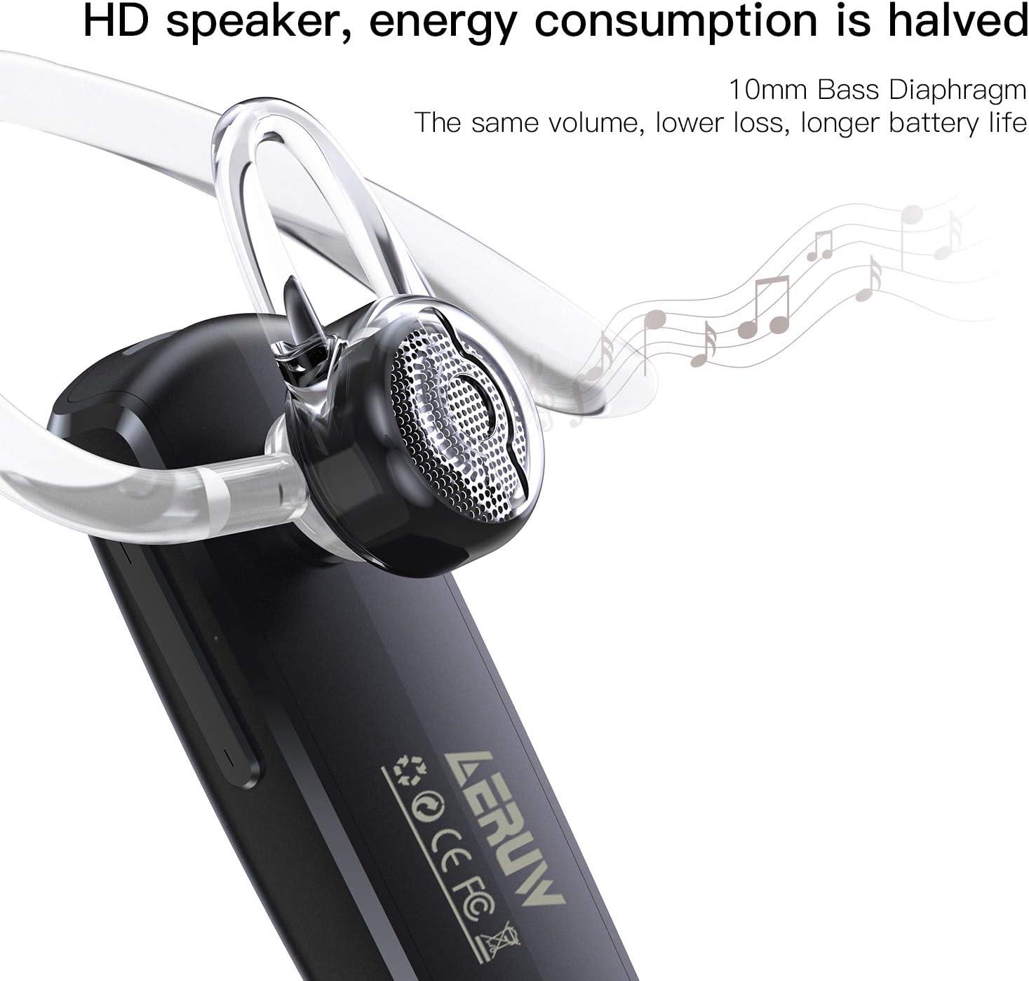 Auriculares Inalámbricos Auricular Bluetooth Manos Libres Bluetooth Auriculares Mono Headset con micrófono para negociostrukersconductor par con