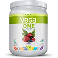 Vega One Organic Meal Replacement Plant Based Protein Powder, Berry - Vegan, Vegetarian, Gluten Free, Dairy Free with…